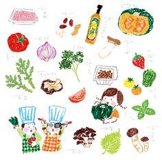 Japanese Illustration: Farm to Wellness. Narumi... | Gurafiku: Japanese Graphic Design