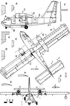 Canadair CL-215 blueprint