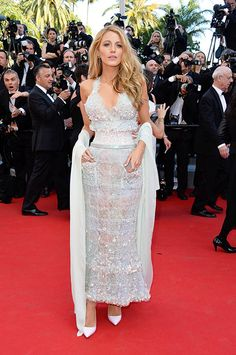 Blake Lively wears Chanel at the Mr. Turner premiere at Cannes on May 15