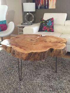Wood Stump Coffee Table