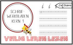 Juf Shanna: Letter schrijfwerkbladen (kern 1) letters: i, m, p, r, s, v, e, aa