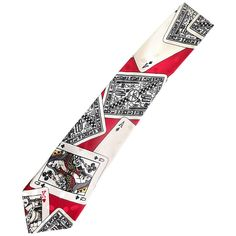 Nicole Miller Men's Playing Cards Novelty Casino Vintage Neck Tie, 1990s 1