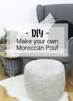 Findet ihr diese marokkanischen Sitzkissen auch so toll wie ich? Ich wollte mir jedoch keinen kaufen sondern hab mich dazu entschieden selbst einen Pouf zu