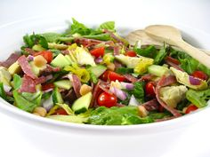 Skinny and Hearty, Antipasto Main Course Salad with Weight Watchers Points   Skinny Kitchen