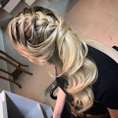 penteado de festa trança