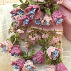 立体レース 花のコットンストール パウダーピンクの画像2枚目