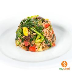Diabetic | PALEO| Vegetarian Farro & Garden Vegetables with Homemade Marinara at OrderMyChef.com. Let My Chef Be Your Chef! #ordermychef #mealplans #healthymealplans