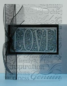 Splitcoaststampers: FOOGallery - TLC137 DCP Black and White Acetate Techniques - Crafts & Projects Gallery