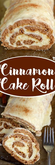 This Cinnamon Cake Roll is packed with amazing flavor and rolled up with the smoothest buttercream frosting and the smothered in an amazing glaze! Such a show stopper! by corina Cake Roll Recipes, Dessert Recipes, Roll Up Cake Recipe, Winter Torte, Jelly Roll Cake, Jelly Rolls, Cinnamon Cake, Cinnamon Rolls, Pie Cake