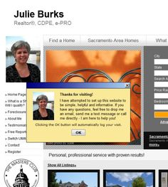 Julie Burkslocated at Riverpoint Realty, 2606 Gateway Oaks Dr, Sacramento CA 95833 offers Real Estate Services, Real Estate Agents. Be sure to follow us directly on our social profiles below.