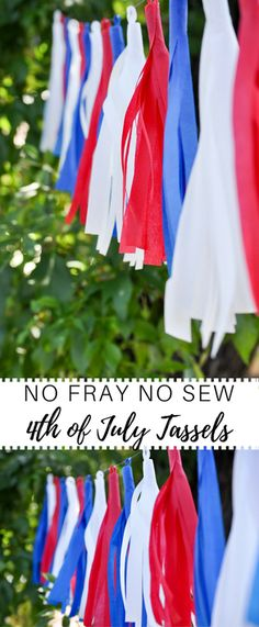 Cutest 4th of July tassels for your 4th of July party