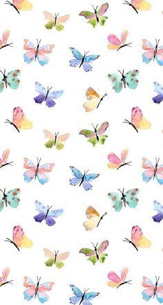 Flower Background Wallpaper, Flower Phone Wallpaper, Cute Wallpaper For Phone, Cute Patterns Wallpaper, Butterfly Wallpaper, Butterfly Art, Butterflies, Flower Backgrounds, Wallpaper Backgrounds