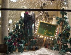 festive window...love the sign stuck in 'snow'