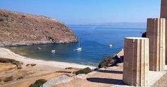 Kea-Tzia island (Κέα-Τζιά) The view from the Ancient Karthea , amazing archaeological site to explore which is accessible only by the sea !