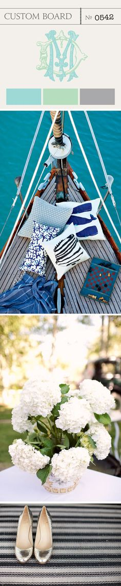 Chic and modern twist on the nautical palette.
