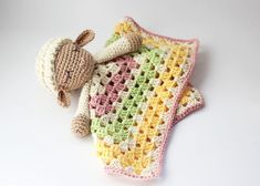 Crochet safety blanket for babies lovey Crochet Gratis, Blanket, Etsy, Afghan Patterns, Hand Made, Blankets, Cover, Comforters