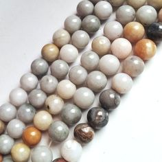 """Silver Leaf Agate Beads, Beautiful 8 MM Silver Leaf Agate Beads Round Shape, Loose 15.5"""" Full Strand, Jewelry Making Silver Leaf Agate Beads  #leafnecklace #agate #sterlingsilver #sterlingsilverring #silverearrings #silverbracelet #silvernecklace #silverpendant #vintagesterling #silverleafnecklace #necklace #beads #silverbeads #naturalleaf #gemstone #agatestone  #silver #necklace #jewelry"""