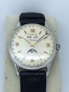 Vintage Fortis Moonphase Triple date Cal 222 nice condition  | eBay