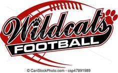vector wildcats football stock illustration royalty free rh za pinterest com wildcat clipart images wildcat clipart images
