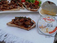 7gramas de ternura: Tostas de Porco Agridoce com Creme de Brie Preside...