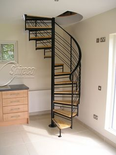 Nice Wonderful Spiral Staircase Design Ideas for Your Floor decorathing…. Nice Wonderful Spiral Staircase Design Ideas for Spiral Stairs Design, Staircase Design, Stair Design, Attic Renovation, Attic Remodel, Small Attics, Small Spaces, Loft Staircase, Spiral Staircases