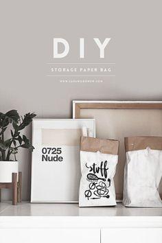 DIY Storage Paper Bag