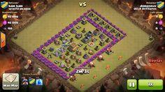 Attacker TH7: 10 Level 2 Dragon, 4 Level 6 Balloon, 3 Level 4 Lightning Spells Defender TH8: Level 1 Barbarian King, Rank 10/20