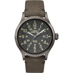 Timex Expedition Scout Metal - Brown Leather/Gray Dial