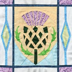 Scottish Thistle - Paper Piecing pattern on @Craftsy