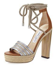 885b26c13068 Jimmy Choo Mayje 130mm Rope-Tie Platform Sandals