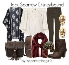 Jack Sparrow Disneybound by capamericagirl21 on Polyvore featuring Alexander McQueen, J Brand, Muk Luks, Forever 21, LeiVanKash, House of Harlow 1960, Valentino and Aspesi
