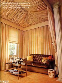 distinctly glamourous 70's decor