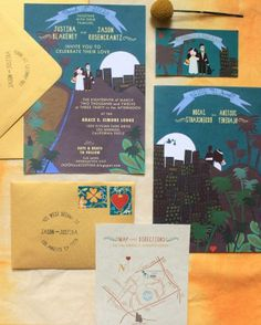 "See the ""Illustrated Invitation"" in our Modern Wedding Invitations gallery"