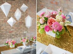 Geometric Indie Wed Inspiration flowers by Pollen (Chicago) http://greenweddingshoes.com/geometric-indie-wed-inspiration/