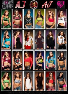 I love all of Aj Lee's shirts! Might steal some..., watch out Aj... Jk or am I?