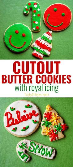 This Butter Cookie is the best recipe for cutout cookies and decorating with royal icing. Butter cookies are softer than a sugar cookie, but not as soft and crumbly as shortbread, making them the perfect cookie for decorating for the holidays! Between its