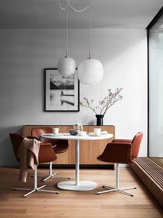 Pella Hedeby | | Interiors - small dining rooms with round dining tables