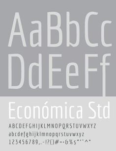 Economica is a font especially developed for printing in complex situations. It has been tested successfully for use in very small sizes without losing legibility