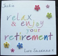 Personalised Handmade Retirement Work Job Card