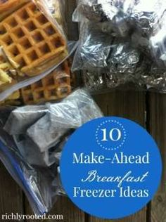 Great tips for freezer cooking + 10 breakfast freezer meal ideas! I want to make ALL of these! It would save so much time in the mornings to have breakfast ready to go!