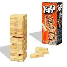 Juegos y juguetes de madera, baratos, y muy chulos. jenga www.alalibreta.com