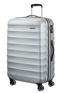 American Tourister Palm Valley Spinner 77cm Metallic Silver