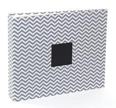 American Crafts - Patterned Cloth Album - 12 x 12 D-Ring - Gray Chevron at Scrapbook.com $24.99