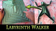 Origami Labyrinth Walker and Square Classical Labyrinth by Jeremy Shafer