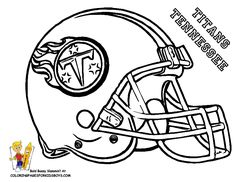 NFL Helmet Coloring Pages