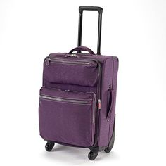 DASH softside carry-on luggage with spinner wheels