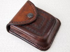 handmade leather belt pouch hip case belt case hip purse ID
