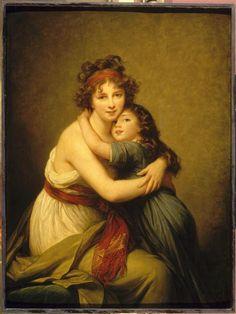 Madame Vigée-Le Brun et sa fille, Jeanne-Lucie, dite Julie (1780-1819)  Auteur :  Vigée-Le Brun Elisabeth Louise (1755-1842)