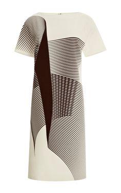 Short Sleeved Bag Dress by Carolina Herrera for Preorder on Moda Operandi