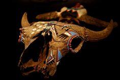 Раскрашенный бизоний череп. Команчи
